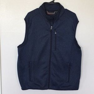 Free Country Men's Navy Full Zip Sweater Knit Vest
